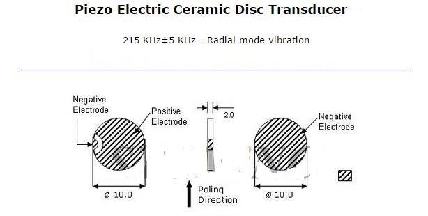 Piezo Electric Ceramic Disc Transducer